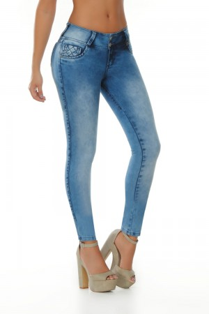 Ten Dance Mid-Rise Push Up Butt Lifting Jeans