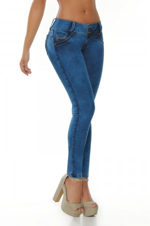 Ten Dance Mid-Rise Push-Up Butt Lifting Jeans