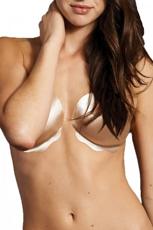 The Natural Satin Adhesive Bra
