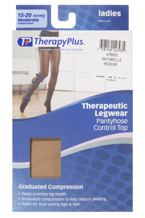 TherapyPlus Ladies Graduated Compression Pantyhose