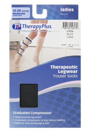 TherapyPlus Ladies Graduated Compression Trouser Sock