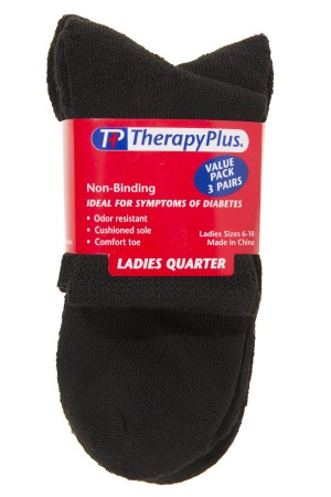 TherapyPlus Ladies Value Pack Non-Binding Quarter 3-Pack