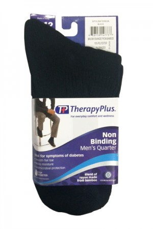 TherapyPlus Men's Non Binding Casual Bamboo Quarter 1-Pack