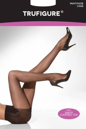 TruFigure Control Top Run-Resistant Sheer Tights