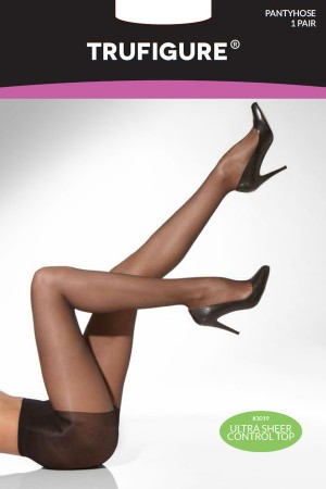TruFigure Ultra Sheer Control Top Tights