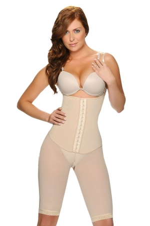 Vedette Sylvie Mid-Thigh Bodysuit with Front Hooks