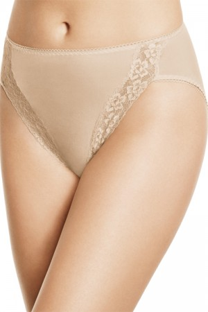 Wacoal Bodysuede Lace Hi-Cut Brief