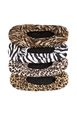 Women's Soft Ballerina Slippers, Animal Print