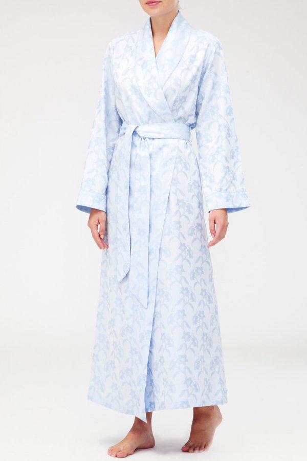 Bonsoir of London Damask Long Robe DLFG | Sleepwear