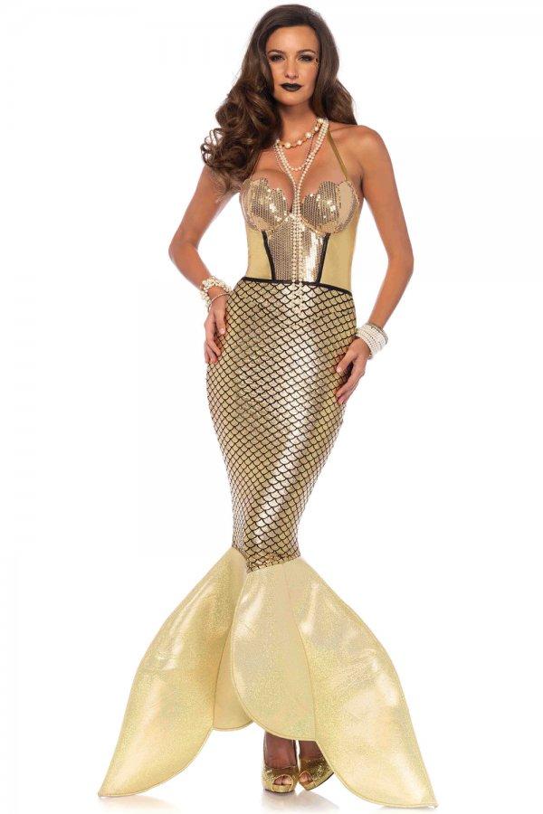 Leg Avenue Golden Glimmer Mermaid Costume 85613 Women S