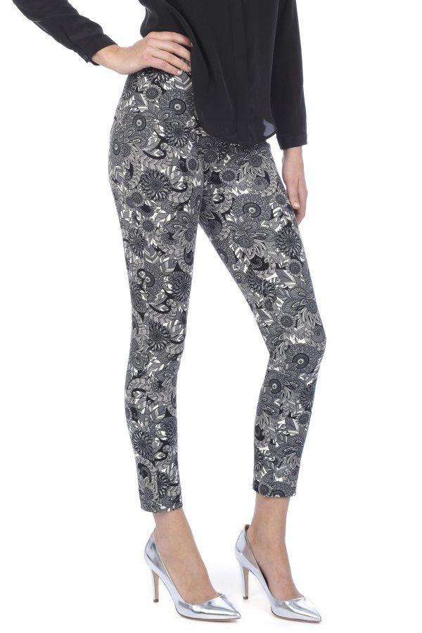 Lysse Printed Twill Crop Legging 9102c Women S