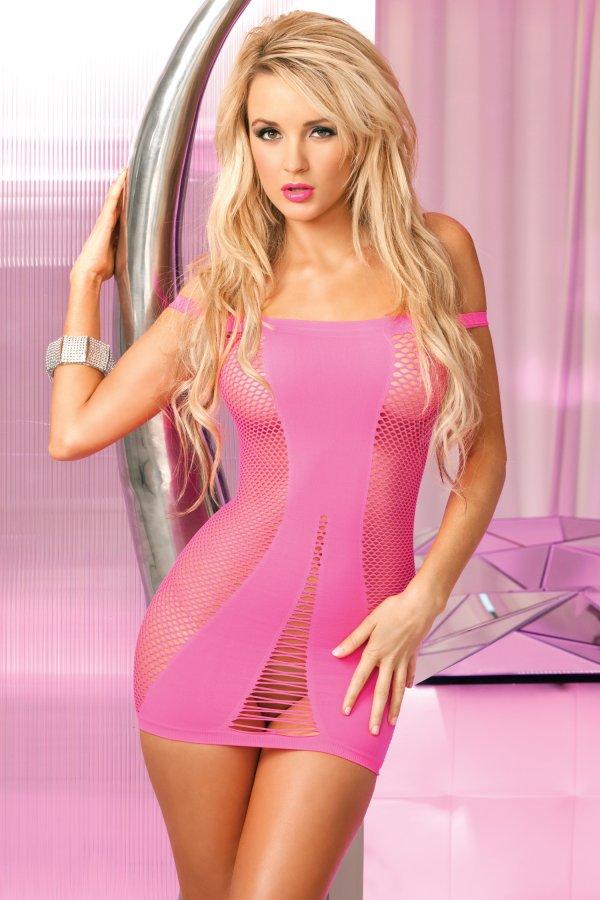 Renu00e9 Rofu00e9 Pink Lipstick Amnesia Seamless Hot Dress 25008