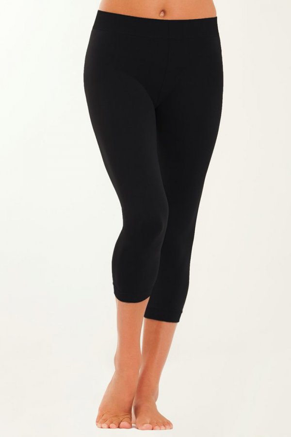 Capri Black Leggings