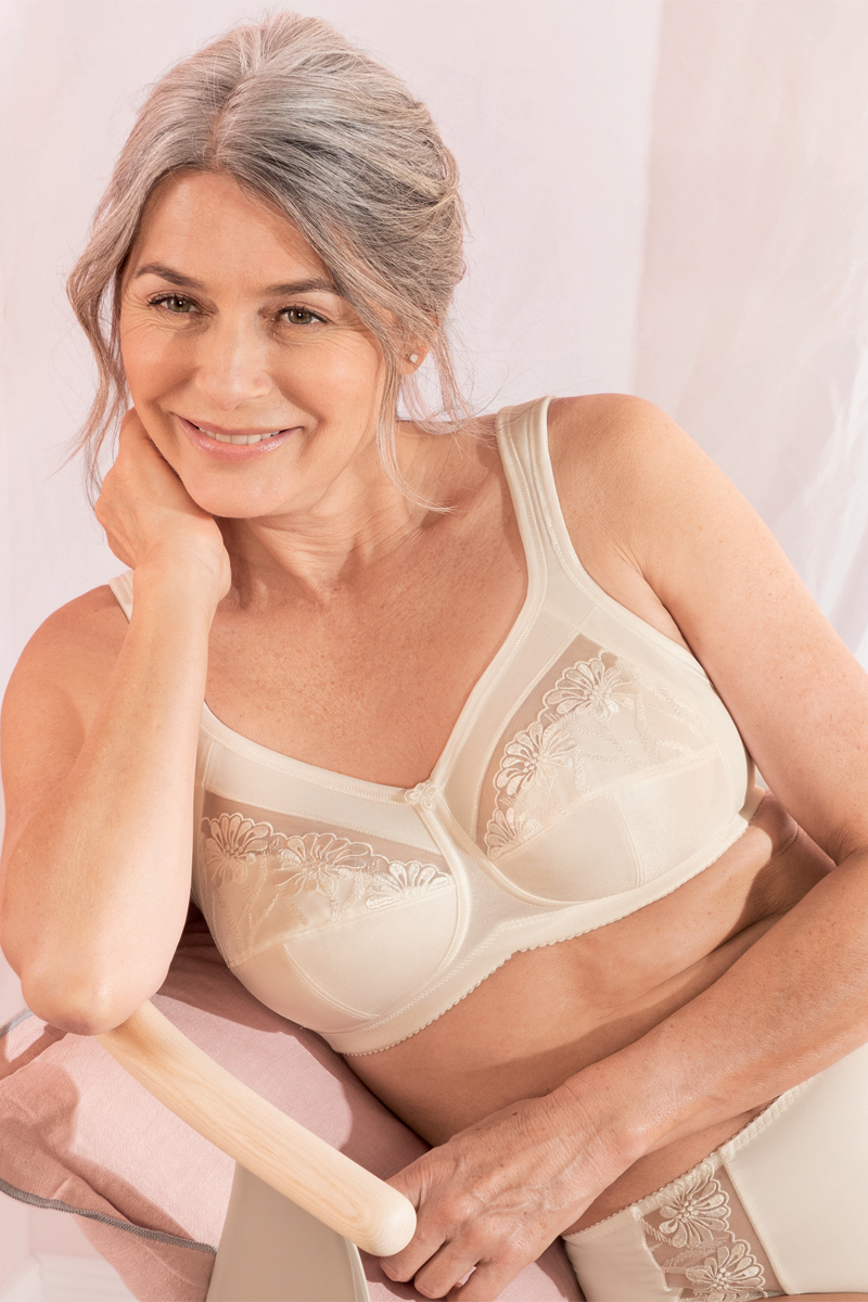ANITA Safina Embroidered Wire-Free Mastectomy Bra Crystal...