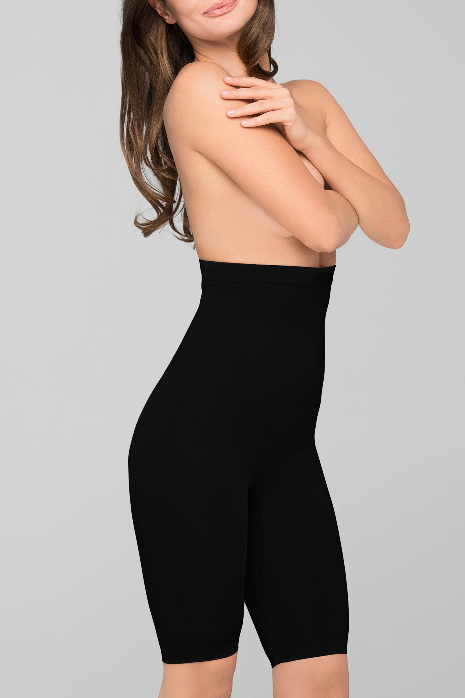 Body Wrap Long-Leg High-Waist Panty Black - S 44821/45821...