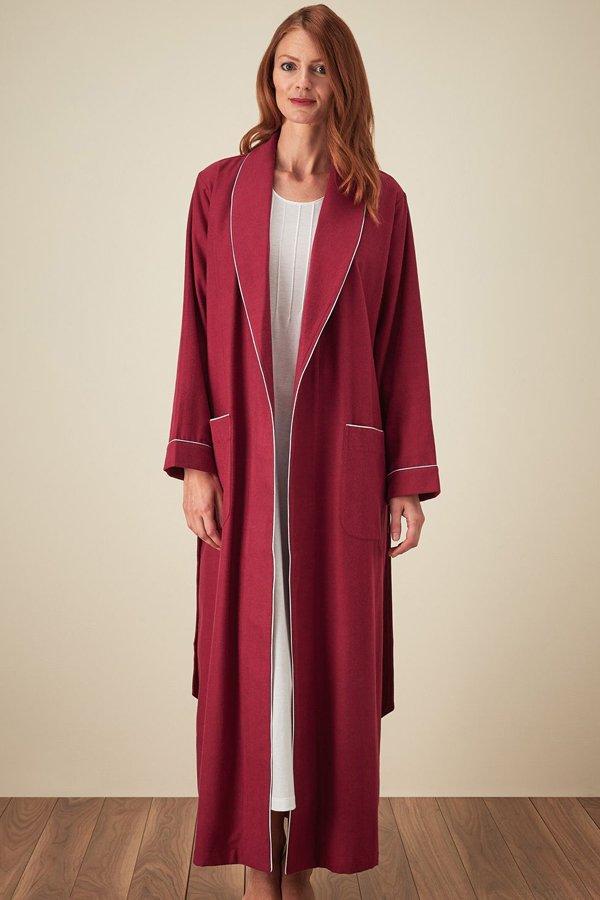 Bonsoir of London Brushed Tartan Gown TLDG | Sleepwear