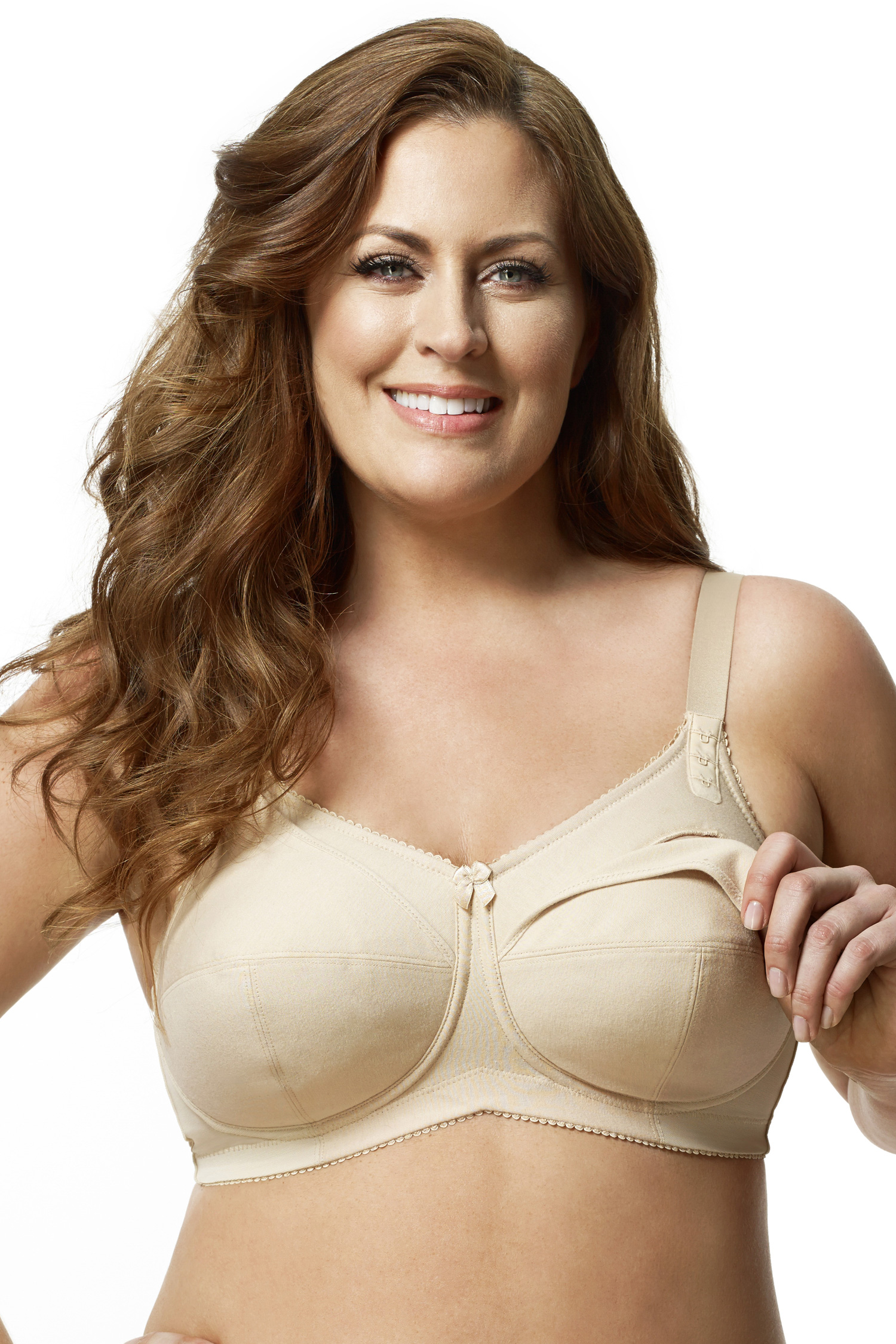 ELILA Cotton Nursing Bra Nude - 32 - L 1613