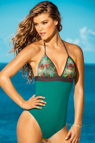 Leonisa Versatile Two Piece Swimsuit With High Rise Bottom
