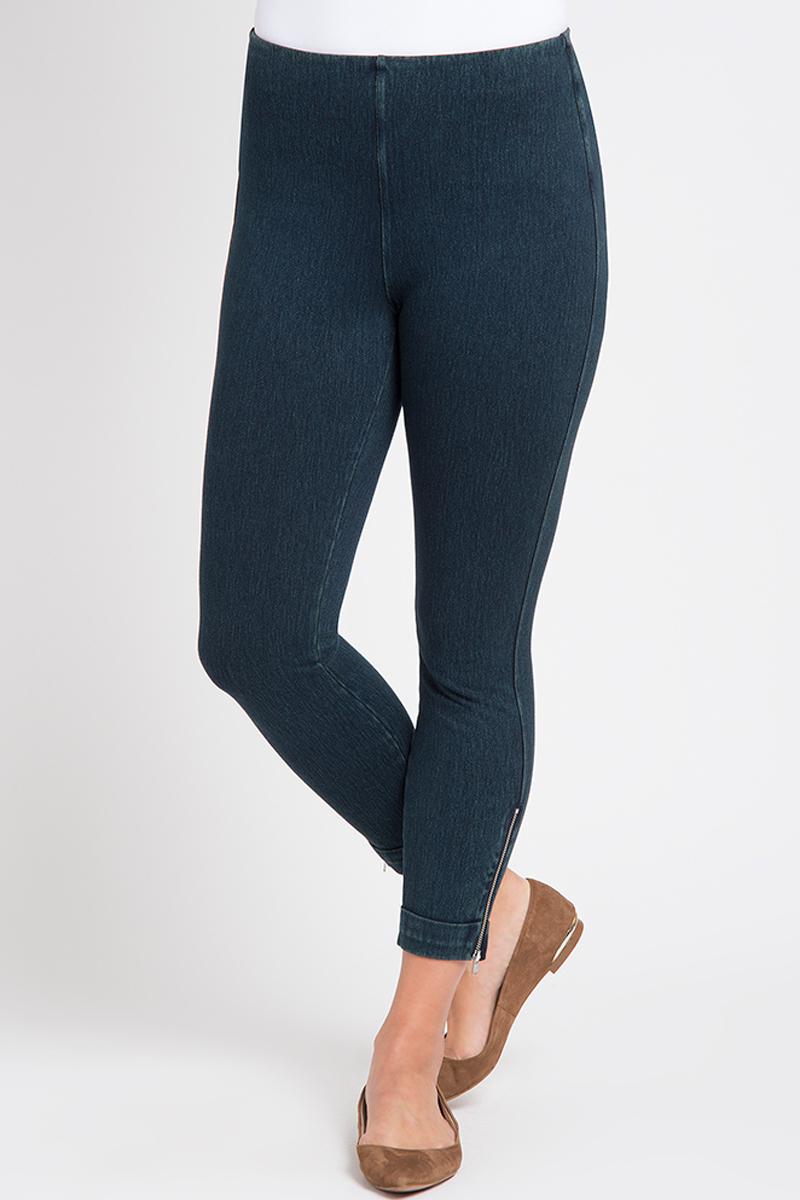 Lysse Women's Denim Cuffed Crop Indigo Jeans XS X 24.5