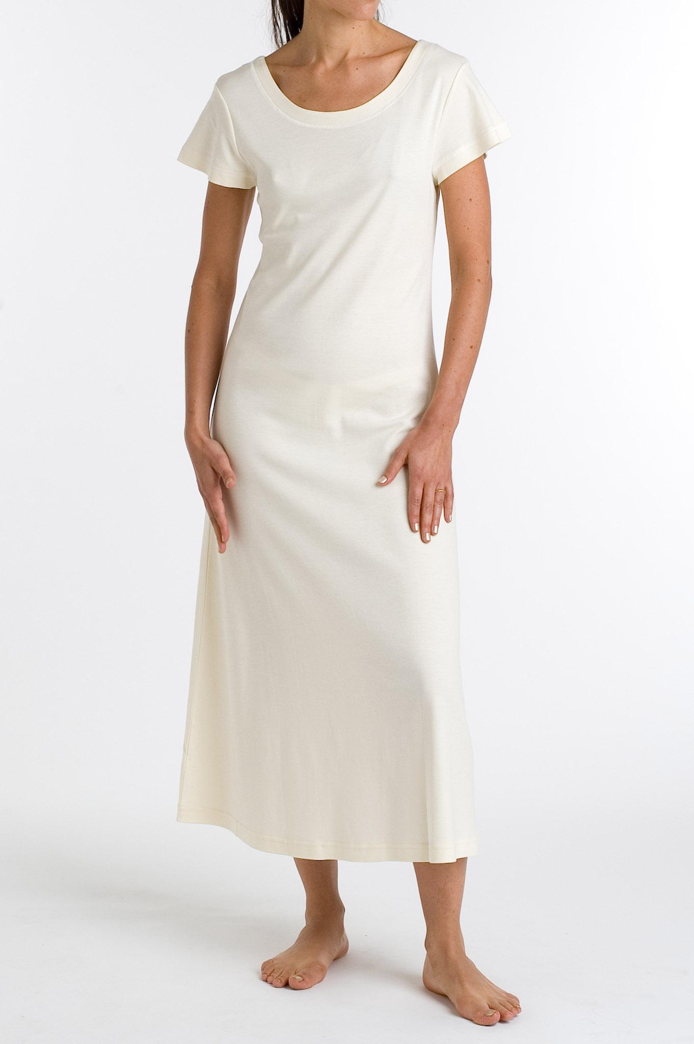P.Jamas Butterknit Cap Sleeved Long Gown Yellow - S 375660