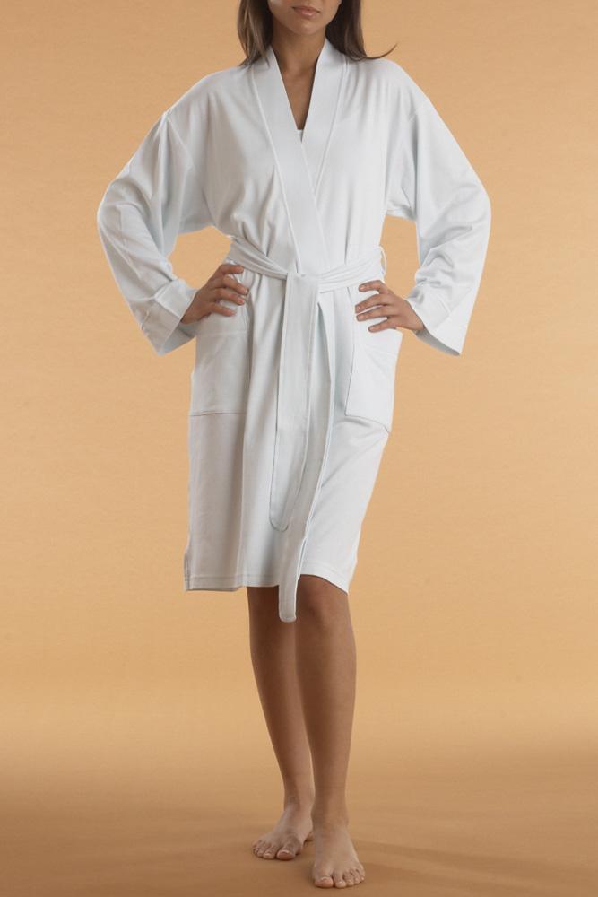 P. Jamas P.Jamas Butterknit Short Robe White - S 345660