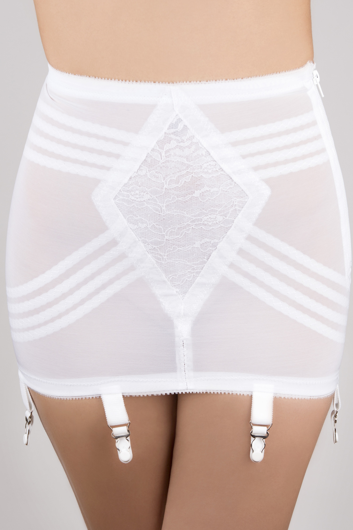 Rago Open Bottom Girdle Firm Shaping White - 4X 1361