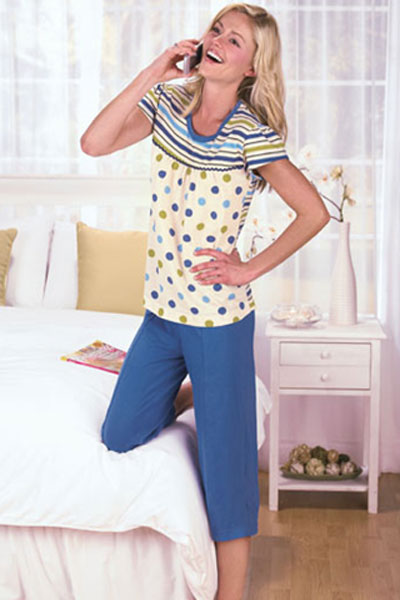 Women's Capri Pajamas 45304 | Sleepwear